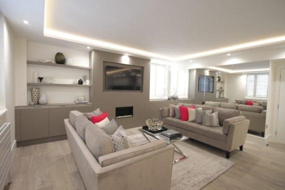 City lux sitting room interior
