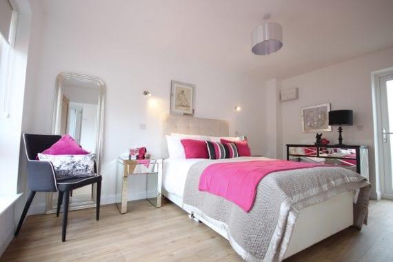 Luxury master bedroom in one bedroom show house