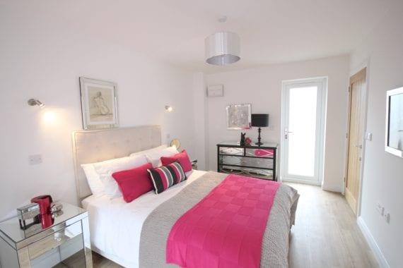 Contemporary bright master bedroom